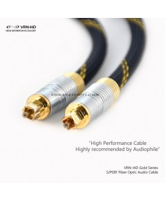 TOS-G3.0 Gold Series Optical Digital Toslink SPDIF Audio Cable 3.0m