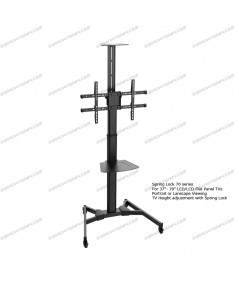 "Spring Lock 70 series Height-Adjustable 37""-70"" LED/LCD Flat Panel TV Stand"