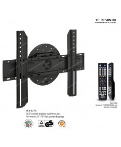 RFX-3770 Rotate Wall mount for 37-70 inch flat panel display with 4 in 1 Universal TV remote