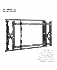 VWM Large 9-series for screen size 55 - 60 inch Pop-out Super Slim Video Wall Mount
