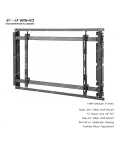 VWM Medium 9-series for screen size 46 - 52 inch Pop-out Super Slim Video Wall Mount