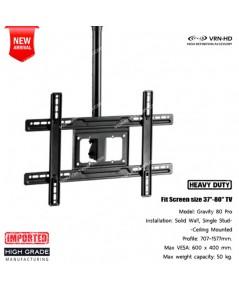 Gravity 80 Pro+D2 series Heavy-duty TV Ceiling Mount ขาแขวนทีวี ติดเพดาน ขนาด 37-80 นิ้ว