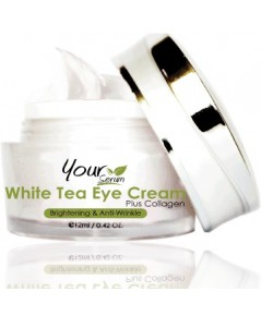 อายครีมใบชาขาว White Tea Eye Cream ลดปัญหาใต้ตาดำคล้ำ ริ้วรอย