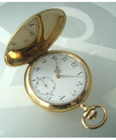 นาฬิกาพกไขลาน pocket vintage ทองคำสลักอักษร breguet  ขนาดตัวเรือน 50mm หน้าปัดกระเบื้องพิมพ์โรมันอดำ