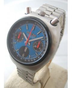 citizen มดเอ็กซ์ 1970 auto chronograph ขนาด 38mm for man, lady หน้าปัดน้ำเงินเงาประดับหลักเวลาขีดพรา