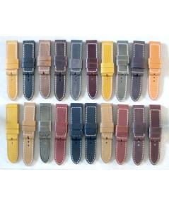 สายนาฬิกา millitary style (Thai hand made) ขนาดหัว 24 mm ปลาย 24mm วัสดุหนังวัวสอยเชือกใหญ่ ของใหม่ค