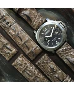 สายหนังจระเข้ HORN BACK ครีพใหญ่ เหมาะสำหรับนาฬิกา PANERAI หรือนาฬิกาที่มีขนาดความกว้าง 24mm หากต้อง