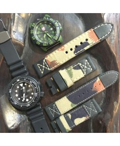 สายหนัง Vintage MILLITARY ใช้วัตถุดิบของกระเป่าทหารจริง เหมาะสำหรับนาฬิกาทุกประเภทที่ต้องการความแตกต