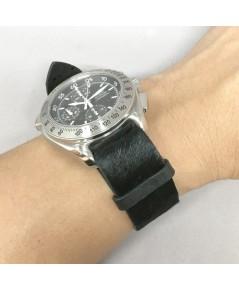 สายนาโต้หนังม้า COUNTRY Style สีดำขนเตียน เหมาะสำหรับนาฬิกาทุกประเภทที่ต้องการความแตกต่าง มีทั้งขนาด