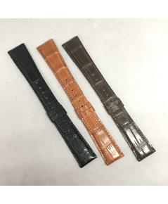 สายหนังจระเข้บาง งานสั่งตัด สีดำ, น้ำตาล, แทน เหมาะสำหรับนาฬิกาเรือนบางไม่เกิน 8 mm ที่ต้องการความแต