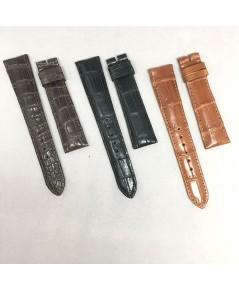 สายหนังจระเข้ รุ่นหนานวม งานสั่งตัด สีดำ, น้ำตาล, แทน เหมาะสำหรับนาฬิกาเรือนบางไม่เกิน 12 mm ที่ต้อง