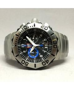 LUMINOX F-16 Fighting Fallcon Grand date Chronograph Spacial edition ขนาด 44mm หน้าปัดดำฝังแท่งแก๊สไ