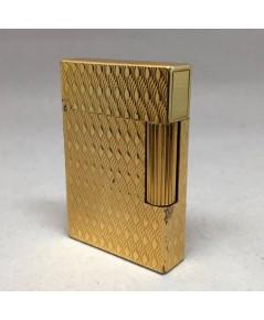 ไฟแช็ค DUPONT MONTPANASSE ตัวเรือนโลหะเคลือบทอง ลวดลายหยัก สภาพสวยกล่องใบอุปกรณ์ครบ