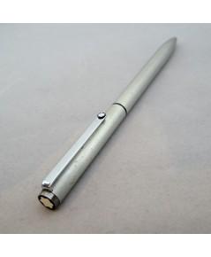 ปากกาหมึกหมึกแห้ง MONTBLANC Classic Ball point 1990 ตัวด้าม stainless steel ขัดลายด้าน ชุดเหน็บทอง ร
