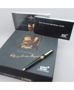 ปากกา หมึกแห้ง MONTBLANC meisterstuck spacial set MOZART ตัวด้ามอครีลิคดำ ชุดเหน็บทอง ปลายปากทอง ระบ