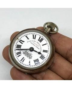 นาฬิกาพกไขลาน pocket watch RAILWAY REGULATOR swiss made ขนาดตัวเรือน 42 mm หน้าปัดกระเบื้องขาวพิมพ์โ