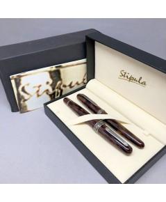 คู่ปากกาหมึกซึม และหมึกเคมี STIPULA Etruria Volterra Spacial Edition ด้ามหมึกซึมลายเส้นขนาด ปลากปากเ
