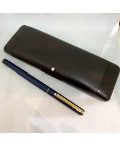 ปากกาหมึกหมึกซึม MONTBLANC Classic Fountain pen 1990 ตัวด้ามเคลือบสีน้ำเงินเข้มด้าน ชุดเหน็บทอง ระบบ