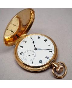 นาฬิกาพกไขลาน DENISON pocket watch 1900 ขนาดตัวเรือน 50 mm หน้าปัดกระเบื้องขาวพิมพ์อารบิคดำ เดินเวลา
