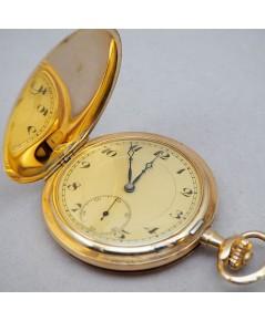 นาฬิกาพกไขลาน pocket watch 1900 ขนาดตัวเรือน 51 mm หน้าปัดกระเบื้องเหลืองครีมพิมพ์อารบิคดำ เดินเวลา