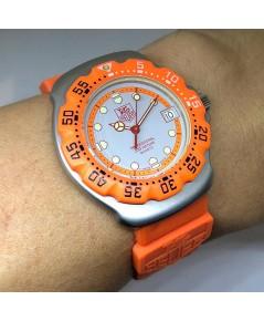 TAG HEUER formura1 classic 1st model Men\'s Watch / Unesex size 35mm หน้าปัดเทาพิมพ์หลักเวลาพรายน้ำ