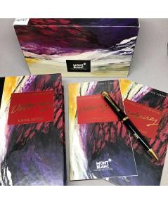 ปากกาหมึกแห้ง MONTBLANC ปี 1995 Limited 11091 / 12000 VOLTAIRE ตัวด้ามอครีลิคดำ พร้อมชุดเหน็บเคลืองท