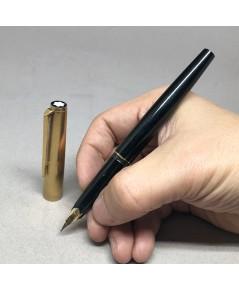 ปากกาหมึกหมึกซึม MONTBLANC Fountain Classic 1980 ปากทอง 14k 585 ตัวด้ามอครีลิคดำแข็ง ชุดปลอกบนพร้อมเ