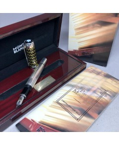 ปากกาหมึกซึม MONTBLANC JP Morgan, Patron of The Art 2004, Limited Edition 1266/4810-18k F Nib ตัวด้า