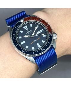 SEIKO Vintage 1980 diver รหัส 6309-729A ใส่ได้ทั้งชาย และหญิง size 42 mm หน้าปัดน้ำเงิน-แดง พิมพ์พรา