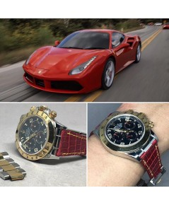 ดีไซน์สายหนังจระเข้แท้ให้กับนาฬิกา ROLEX Daytona  และรุ่นอื่น สีอื่นได้อีกมากมาย ทั้งหนังจระเข้ หนัง