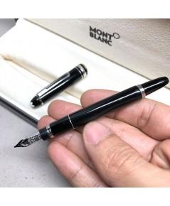 ปากกาหมึกซึม MONTBLANC Meistersturck Mini Fountain pen ชุดปากเขียนทอง 14k (585) ตัวด้ามอครีลิคดำ ชุด