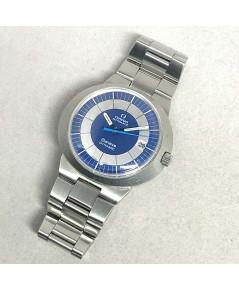 OMEGA Dynamic automatic date 1970s ขนาด 42x37mm หน้าปัดน้ำเงินสลับบรอนซ์ บอกวันที่ตำแหน่ง 3 นาฬิกา ก