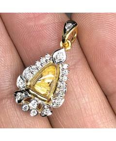 พระทองคำนาคปรก ใส่ตลับทองคำแท้ฝังเพขรแท้ 19 เม็ด รวมน้ำหนัก 0.40 กะรัต ทอง 90 น้ำหนัก 3.3 กรัม ขนาด