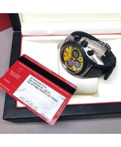 TUDOR Fastrider Chrono ขนาดตัวเรือน 42mm หน้าปัดเหลืองจับเวลาวงดำสลับบรอนซ์เงิน ชุดเข็ม และหลักเวลาด