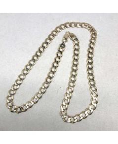 สร้อยคอ อังกฤษ Pink gold ตัวเรือนทอง  9k 375 เหมาะสำหรับผู้ชาย ลายเรียบ ขนาดลายกว้าง 9 mm  น้ำหนักทอ