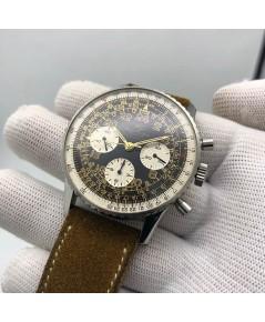 BREITLING Vintage Navitimer Cosmonaute Chronograph ขนาดตัวเรือน 41mm หน้าปัดดำตัวเลขอารบิคน้ำตาลทองส