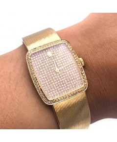 ROLEX Cellini model 4321 full diamond ระบบไขลาน lady size 23x26mm ปี 1981 หน้าปัดประดับเพชรแท้ เดินเ