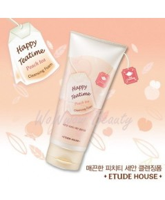 (Pre-order) Etude House Happy Teatime Cleansing Foam (Peach Tea) โฟมล้างหน้าชาพีช