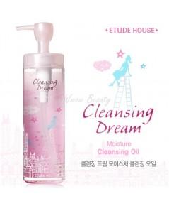 (Pre-order) Etude House Cleansing Dream Moisture cleansing oil ออยล์ทำความสะอาดเมคอัพ สำหรับผิวแห้ง