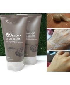 (Pre Order) The Face Shop Jeju Volcanic Pore Scrub Foam 150ml. โฟมสครับล้างหน้าช่วยขจัดสิวเสี้ยน