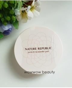 (พร้อมส่ง no.23) Nature Republic Pure Shine Powder Pact 12g. แป้งพัฟ ผิวเนียนเรียบ กระจ่างใสตลอดวัน