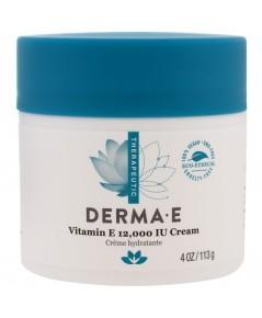 (Pre Order) Derma E, Vitamin E 12,000 IU Creme  4 oz (113 g) ครีมวิตามินอี ผิวเนียนนุ่ม ลดรอ
