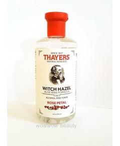 (Pre Order)  Thayers Witch Hazel Rose Petal 355 ml. โทนเนอร์เช็ดผิวหน้า กลิ่นกุหลาบ ปราศจากแอลกอฮอล์