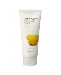 (Pre Orde)The Face Shop Herb Day 365 Cleansing Foam (Lemon) 170 ml.โฟมล้างหน้าสูตรเพิ่มความขาวกระจ่า