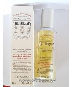 (Pre Order) The Face shop The Therapy Oil Drop Anti Aging Serum 45 ml. เซรั่มลดริ้วรอย ชุ่มชื้น