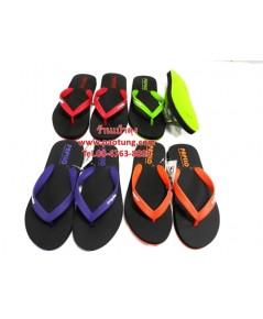 รองเท้าแตะฟองน้ำหูคีบสีดำหูสี Papilo ขายส่ง