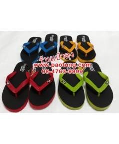 รองเท้าแตะฟองน้ำหูสลับสี ขายส่งยกโหลPRADO(MA-10)