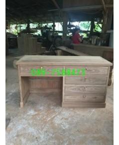 โต๊ะทำงานไม้สัก 5 ลิ้นชัก