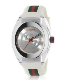 Gucci Sync Unisex Swiss White Rubber  Watch 46mm YA137102