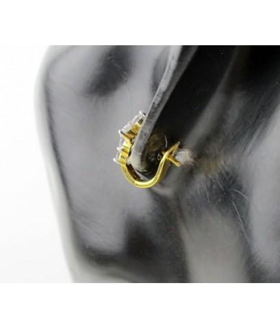 ต่างหู ห่วงเพชร 10 เม็ด 1.10 กะรัต ทอง90 เพชรสวย เล่นไฟ วิ้ง วิ้ง นน. 3.15 g